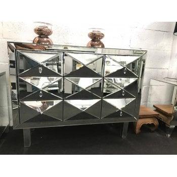 All home marbella Mirror three drawer chest