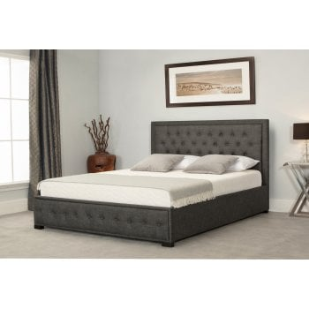 Emporia beds Albany grey fabric ottoman bed