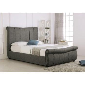 Emporia beds Bosworth grey sleigh ottoman storage bed