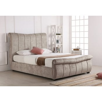 Emporia beds Bosworth stone sleigh ottoman storage bed