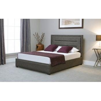 Emporia beds Knightsbridge grey ottoman storage bedframe