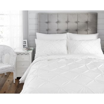 The Lyndon Company Naples white 100% cotton duvet set