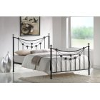 Forse classic black metal bedframe