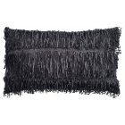 Agina black 30cm x 50cm filled boudoir cushion