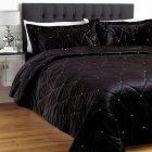 Riva paoletti Diamante black 220cm x 240cm bedspread set