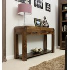 Shiro solid walnut console table