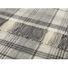 Huntingtower grey shetland 140cm x 185cm pure new wool throw