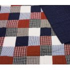 Mckenzie hand quilted blue & red 140cm X 200cm single quilt