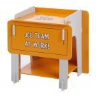 JCB yellow painted bedside cabinet