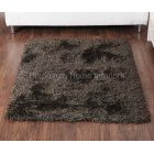 Balotelli choc green handwoven 100% polyester rug