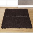 Balotelli choc brown handwoven 100% polyester rug