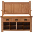 Montreux solid oak monks bench