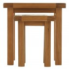 Montreux solid oak nest of 2 tables