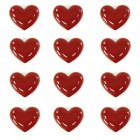 Medium love hearts ceramic set of 12