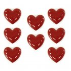 Large love hearts ceramic set of 8