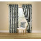 Botanica teal pencil pleat readymade curtains