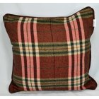 Chequers red piped cushion cover, 43cm