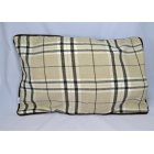 Chequers beige 60cm x 40cm rectangle piped cushion cover