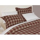 Winton red and beige tartan plaid brushed cotton duvet cover