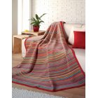 Messina multi coloured striped jacquard blanket 150cm x 200cm