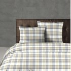 Hartford pure cotton taupe and grey tartan check duvet cover