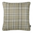 Cerato charcoal tartan check cushion 45cm