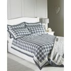 Nantucket grey pure cotton check duvet set