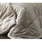 Cristal champagne trellis quilted bed runner 70cm x 240cm