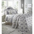 Toile french style floral blue grey duvet set