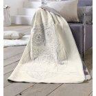 Sorrento grey owl sketchwork design blanket 150cm x 200cm