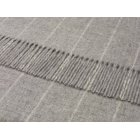 Pinstripe grey lambswool throw 140cm x 185cm