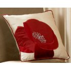 Daniella red floral cushion cover 43cm