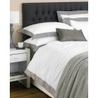 Harvard mocha border 100% cotton duvet set