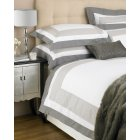 Cambridge cotton white and mocha panel duvet set