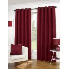 Lexington red basketweave readymade eyelet curtains