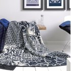 solare paisley mozart patterned blanket,blue,white, 150cm x 200cm