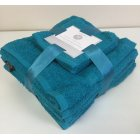 10 pack cotton towel bale set - teal