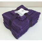 10 pack cotton towel bale set - purple