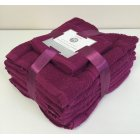 10 pack cotton towel bale set - raspberry
