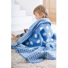 Sorrento kuschelkind childrens blue spots gingham blanket