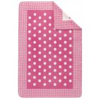 Sorrento kuschelkind childrens pink spots gingham blanket