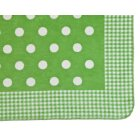Sorrento kuschelkind childrens green spots gingham blanket
