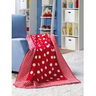 Sorrento kuschelkind childrens red spots gingham blanket