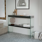 waverley black high gloss console table