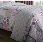 Ethnic floral patchwork berry bedspread