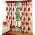 Annabella Red eyelet readymade curtains