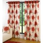 Annabella red eyelet readymade curtain