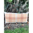 Harvest burnt orange feather filled cushion, 60x30cm