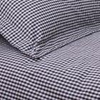 Gingham black cotton duvet set