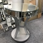 Valencia round mirrored 52cm lamp table